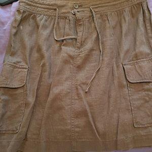 Izod brown linen skirt